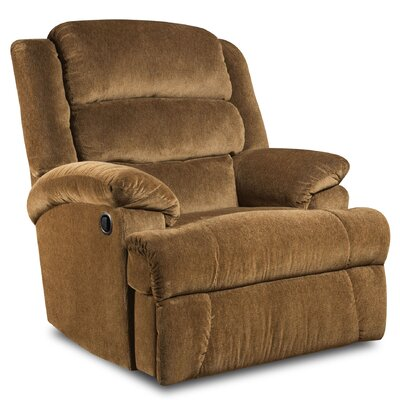 James Recliner Upholstery: Aynsley Claret, Type: Manual