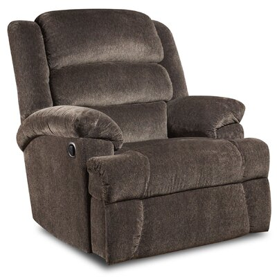 James Recliner Upholstery: Aynsley Navy, Type: Manual