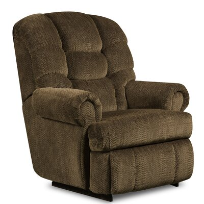 Philip Recliner Type: Manual, Upholstery: Gazette Pewter