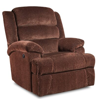 James Manual Recliner Reclining Type: Power, Upholstery: Aynsley Claret