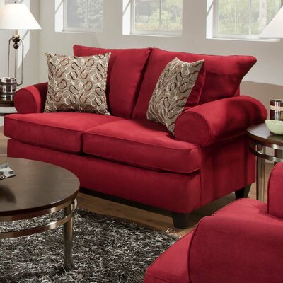 William Loveseat Upholstery: Montana Crimson