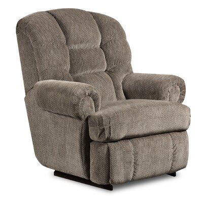 Philip Manual Recliner Reclining Type: Manual, Upholstery: Gazette Pewter