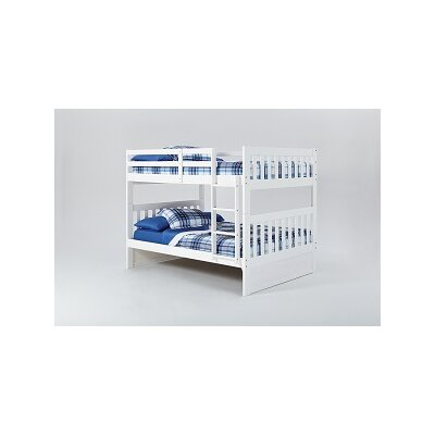 Mission Bunk Bed with Ladder Finish: White, Size: Full over Full