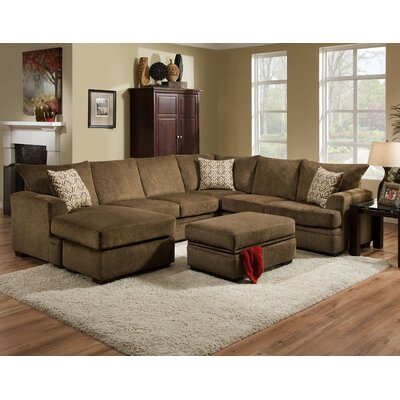 Strothers Sectional Upholstery: Cornell Cocoa