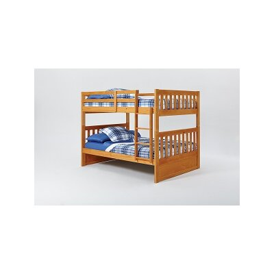 Mission Bunk Bed with Ladder Finish: Honey, Size: Twin over Twin