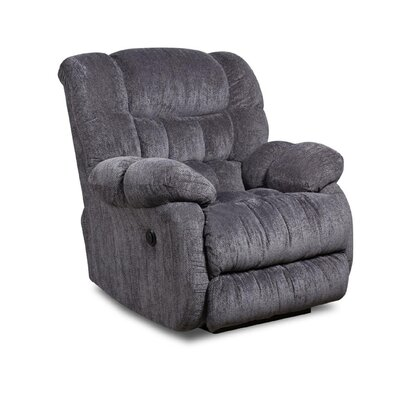 Laguna Recliner Type: Manual, Upholstery: Indigo Blue