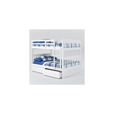 Mission Full Over Full Bunk Bed with Under Storage Finish: White