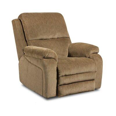 Oakdale Recliner Upholstery: Gazette Thistle, Type: Power