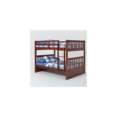 Mission Bunk Bed with Ladder Finish: Chocolate, Size: Full over Full