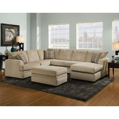 186800-1663-SEC-CP Chelsea Home Cornell Platinum Sectionals