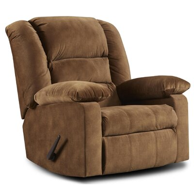 Riley Manual Recliner Upholstery: Cody Tobacco