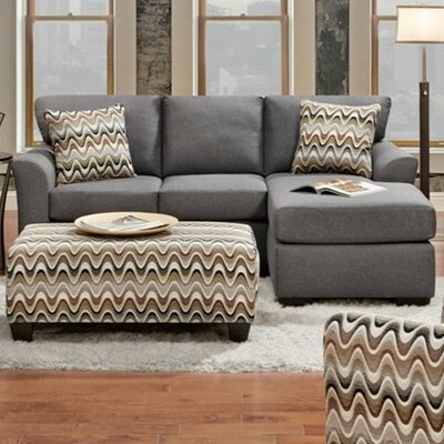 Chelsea Home 193903-S-CG Weaver Reversible Sectional Upholstery