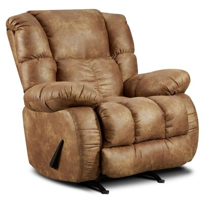 Jaxon Manual Recliner Upholstery: Padre Almond
