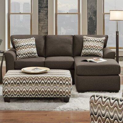 Weaver Reversible Sectional Upholstery: Cosmopolitan Cocoa