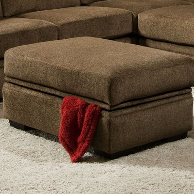 Strothers Storage Ottoman Upholstery: Cornell Cocoa