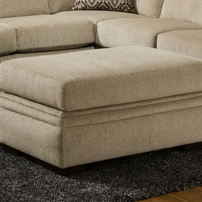 Strothers Ottoman Upholstery: Cornell Platinum