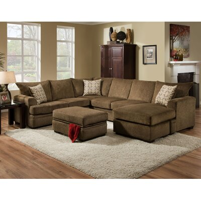 Robbins Modular Sectional Upholstery: Cornell Cocoa