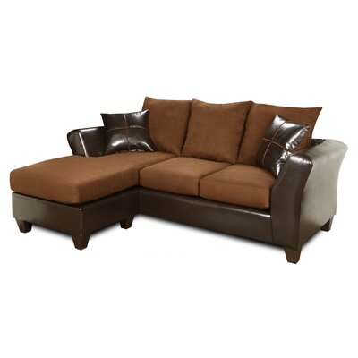 Sectional Upholstery: Denver Mocha / Flatsuede Chocolate