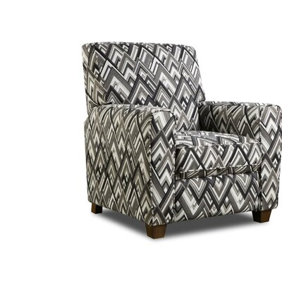 Barras Manual Recliner Upholstery: Boomerang Domino