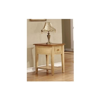 Tempest End Table Color: Two Tone