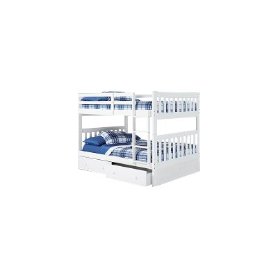 Mission Full Over Full Bunk Bed with Under Storage Color: White