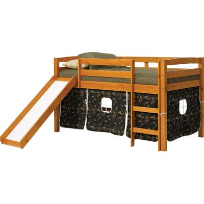 Twin Low Loft Bed Color: Camouflage