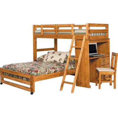 Twin over Full L-Shaped Bunk Bed