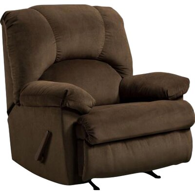 Charles Manual Rocker Recliner Upholstery: Montana Chocolate