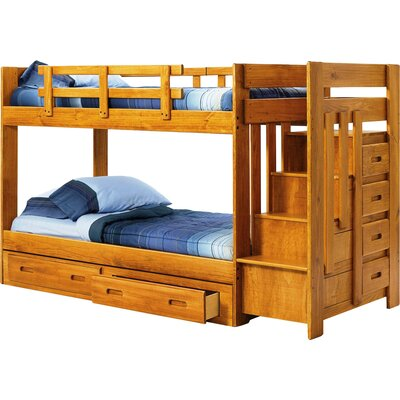 Twin over Twin Bunk Bed with Storage