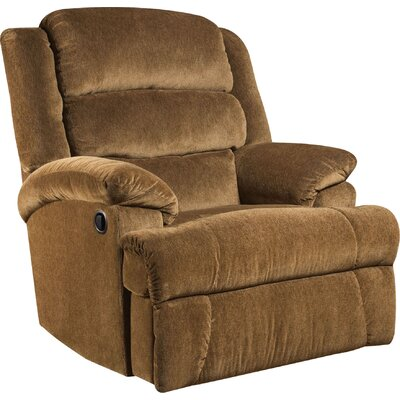 James Manual Recliner Reclining Type: Power, Upholstery: Aynsley Amber