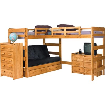 L-Shaped Bunk Bed Underbed Storage: Yes