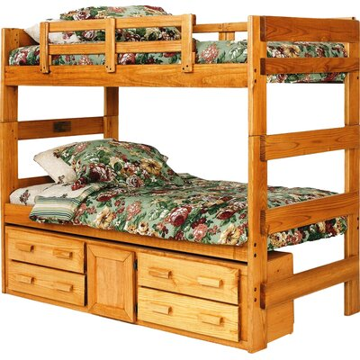 Extra Tall Twin over Twin Bunk Bed with Storage