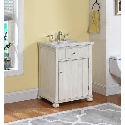 Cason 24 Single Bathroom Vanity Set with Mirror