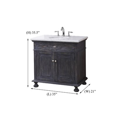 Harriette 35 Single Bathroom Vanity Set