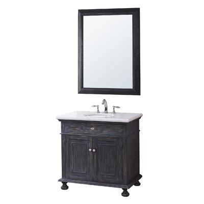 Harriette 35 Single Bathroom Vanity Set with Mirror