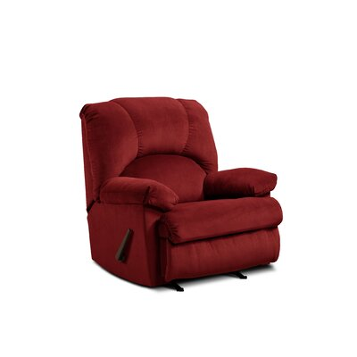 Charles Manual Rocker Recliner Upholstery: Montana Garnet