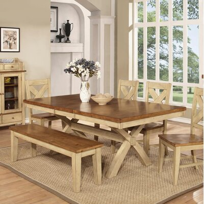 Vail Dining Table Finish: Pecan & Black