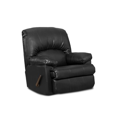 Charles Manual Rocker Recliner Upholstery: Black