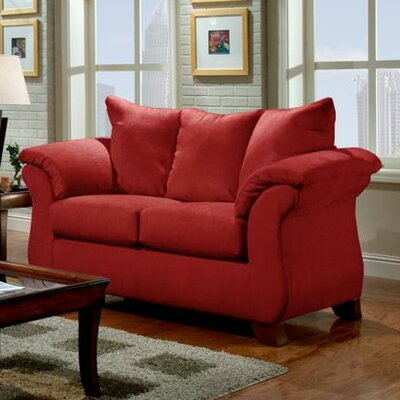 Armstrong Loveseat Upholstery: Sensations Red Brick