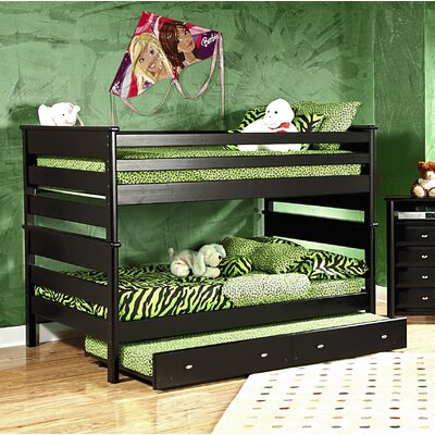 Lillydale Full Over Full Bunk Bed with Trundle Size: Full