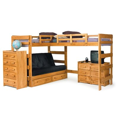L-Shaped Bunk Bed Underbed Storage: No