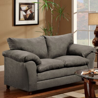 Gail Loveseat Upholstery: Flatsuede Graphite