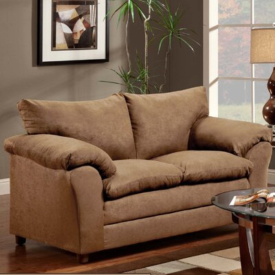 Gail Loveseat Upholstery: Victory Lane Taupe
