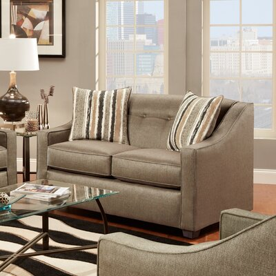 Brittany Loveseat Upholstery: Stoked Pewter