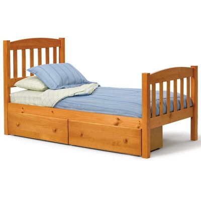 Slat Bed with Storage Size: Twin