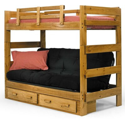 Twin Futon Bunk Bed with Storage