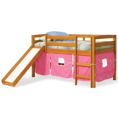 Twin Low Loft Bed Color: Pink
