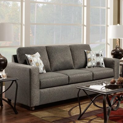Talbot Queen Sleeper Sofa Upholstery: Vivid Onyx
