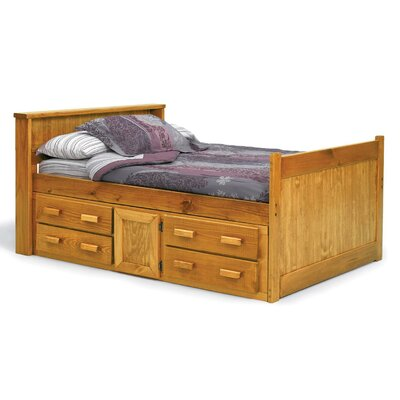Captain Bed with Storage Size: Full