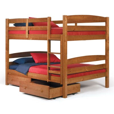 Full over Full Bunk Bed with Storage